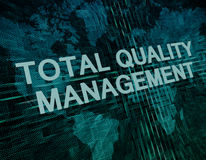 Total Quality Management Royalty Free Stock Photo
