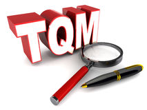Total quality management. TQM or total quality management concept, end to end product quality assurance Stock Photos
