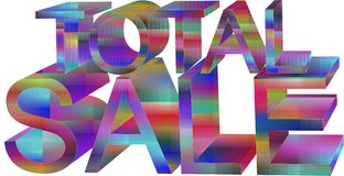 Total sale. Ad for total sale Stock Illustration