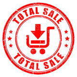 Total sale business rubber stamp. Total sale business rubber vector stamp Royalty Free Stock Photography