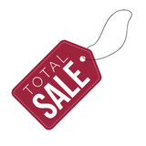 Total Sale dark red tag Royalty Free Stock Image