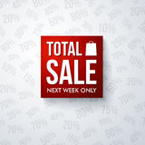 Total sale design template. Royalty Free Stock Photography