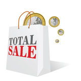 Total sale with euro color vector Stock Photo