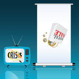 Total sale with euro and crisis vector Stock Images