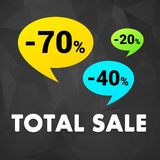 Total sale off discount poster Stock Photography