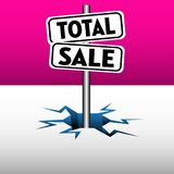 Total sale plates Stock Illustration