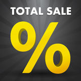 Total sale poster with percent discount Stock Images