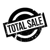 Total Sale rubber stamp. Grunge design with dust scratches. Effects can be easily removed for a clean, crisp look. Color is easily changed Stock Image