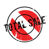 Total Sale rubber stamp. Grunge design with dust scratches. Effects can be easily removed for a clean, crisp look. Color is easily changed Royalty Free Stock Photos