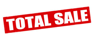 Total sale Stock Images