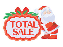 Total Sale Sticker For Christmas Discounts Royalty Free Stock Photography