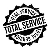 Total Service rubber stamp Stock Photos