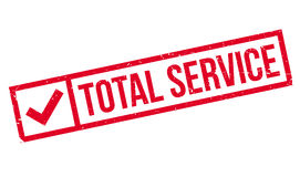Total Service rubber stamp Royalty Free Stock Photo