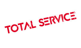 Total Service rubber stamp Stock Photo