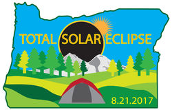 2017 Total Solar Eclipse Camping Trip Map vector illustration Royalty Free Stock Photo