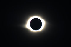 Total Solar Eclipse in Novosibirsk. Corona of the Sun at solar eclipse on the 1 August 2008 Royalty Free Stock Image