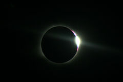 Total Solar Eclipse in Novosibirsk Stock Images