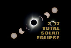 2017 Total Solar Eclipse Phases USA America Royalty Free Stock Photography