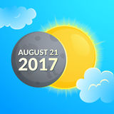 Eclipce vector illustration Stock Photo