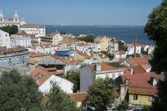 Total- stadssikt av Lissabon Portugal Royaltyfri Foto