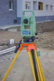 Total station at construction site - land surveying instrument 2 Royalty Free Stock Photography