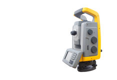 The total station  isolate on white background  Stock Photography