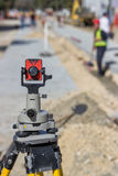 Total station prism Stock Image