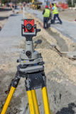 Total station prism 2 Royalty Free Stock Image