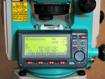 Total station sok. Measurement Instrument. The control panel stock photo