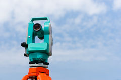 Total station or theodolite Stock Photos