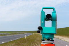 Total station or theodolite Stock Images