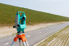 Total station or theodolite Stock Image