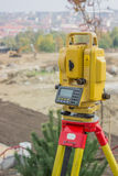 Total station on tripod 2 Royalty Free Stock Photo