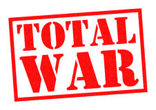 TOTAL WAR. Red Rubber Stamp over a white background Royalty Free Stock Images