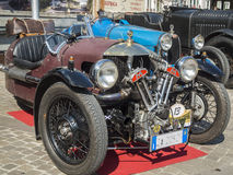 Totale classico del sud del wheeler_front del Tirolo cars_2015_Morgan tre Fotografia Stock Libera da Diritti