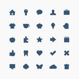 Totale dagelijkse pictogramreeks Royalty-vrije Stock Foto