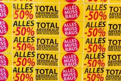 Totale verkoop Stock Afbeeldingen
