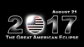 Totale zonneverduistering die over de Verenigde Staten van Amerika op 21 Augustus, 2017 reizen Royalty-vrije Stock Fotografie