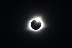 Totalità di passato di eclissi solare appena Immagini Stock