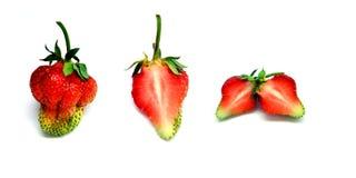 Totalité et demi de fraise Photographie stock