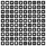 100 totalizator icons set black. 100 totalizator icons set in black color isolated vector illustration Royalty Free Illustration