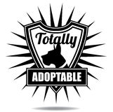 Totally adoptable pet badge icon shield Stock Images