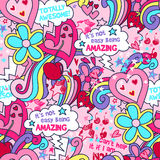 Totally awesome seamless pattern Stock Image