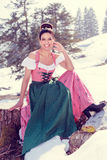 Totally fashionable, totally trendy: Ladies Dirndls Royalty Free Stock Photography