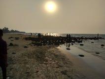 Sun set at Saint martin island Royalty Free Stock Images