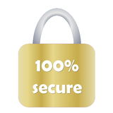 Totally secure padlock Royalty Free Stock Images