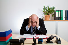 Totally stressed manager Stock Photography
