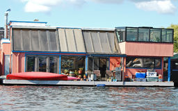Totally Unique Houseboat on Lake Union Stock Image
