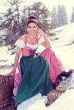 Totalmente de moda, totalmente de moda: Dirndls de las señoras Fotografía de archivo libre de regalías