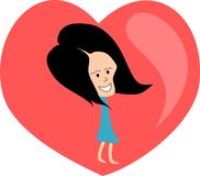 Totalmente no amor. ilustração do vetor